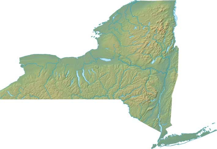 new-york relief map