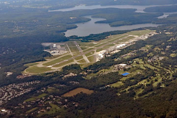 aerial view of westchester county airport